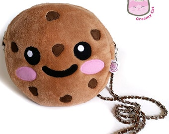 Chocolate chip cookie crossbody bag