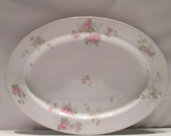 H and C SELB Bavarian China Platter 11x9