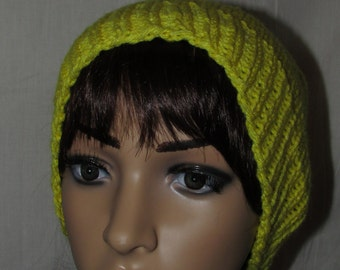 Yellow Slouch Knit Beanie