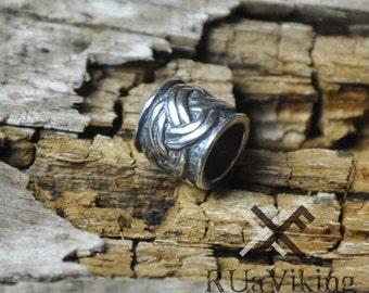 Eitri - Viking beard bead - 6 mm inner diameter - sterling silver - handmade Dwarvish beard ring / bead