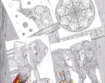 View Coloring Books Pages by ValrArt on Etsy