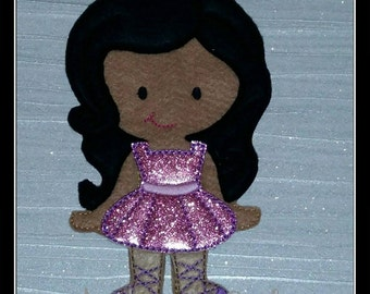 Ballerina Tutu Dress for my Non Paper Doll, Flat Doll, Felt Play, Quiet play. 1 Dress ONLY