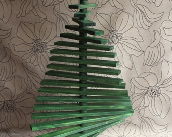 Christmas Tree, Pinewood Wooden Decoration