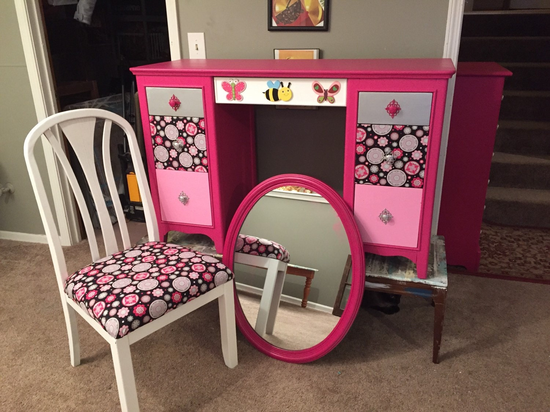 Custom desks for order zebra desk hot pink by sandjbargainvault