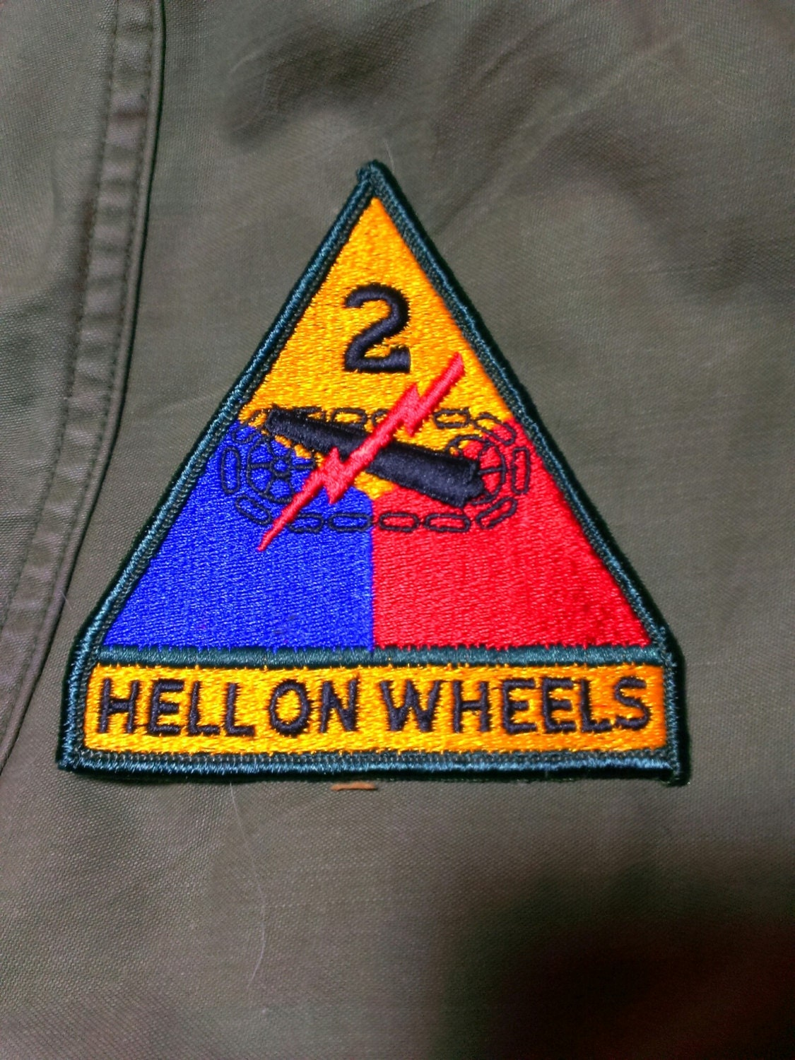 Vintage Military Hell On Wheels Patch 3