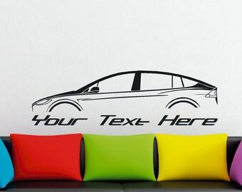 Large Custom car silhouette wall sticker - for Tesla Model X
