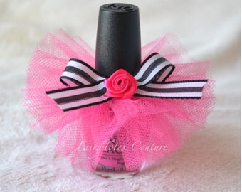Nail Polish Tutu Favor (Shorter Style) - Kate Spade Inspired Favors - Paris Party Favor