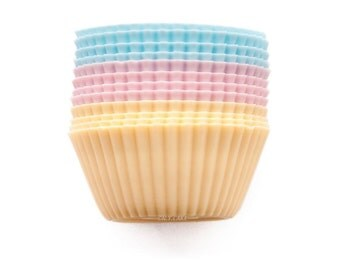 """Silicone Cupcake Liners """"Standard Size Set of 12"""""""