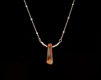 Flame jasper and 925 Stirling silver