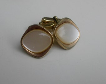 old cufflinks with mother of Pearl