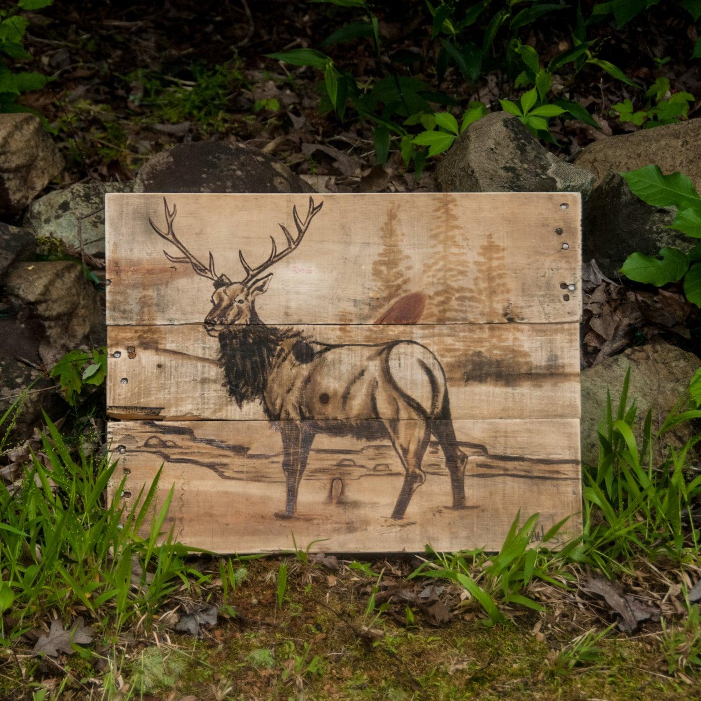elk art log cabin decor log furniture rustic home decor