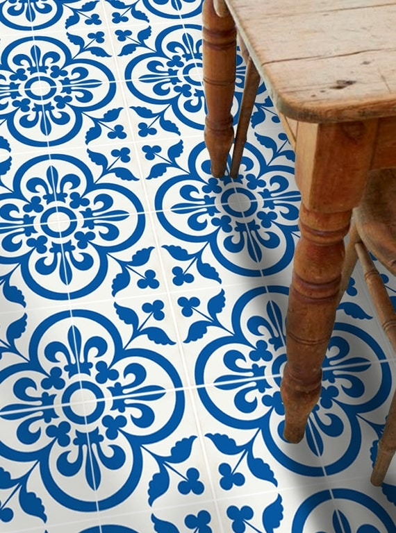 Vinyl Floor Tile Sticker Floor Decals Carreaux Ciment