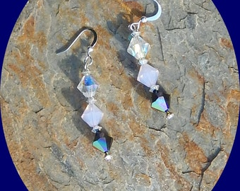 Reduced! Swarovski Crystal Bicone Earrings