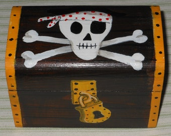 pirate treasure chest jewellery/ trinket box