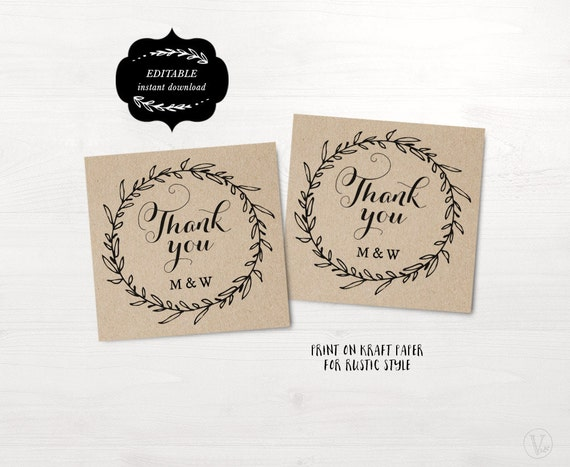 Wedding Favor Gift Tags Template : Favor Tags, Printable Wedding Favor Tag Template, Thank You Tags ...