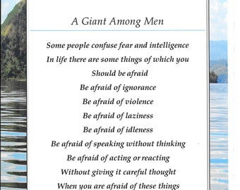 A Giant Among Men - Greeting Card