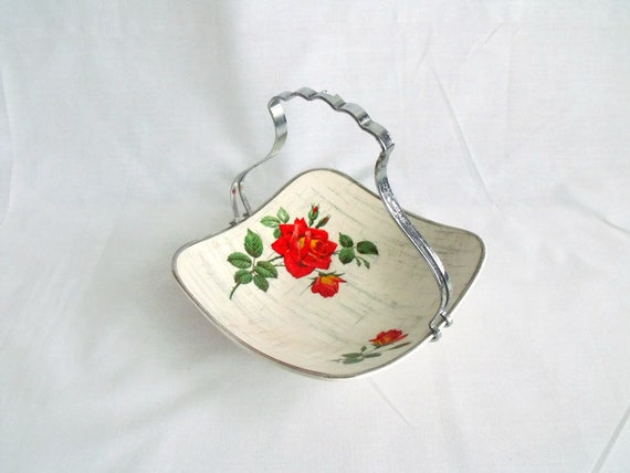stylecraft midwinter fashion shape serving plate, nibbles stand, cake server, chrome plated handle, slight damage
