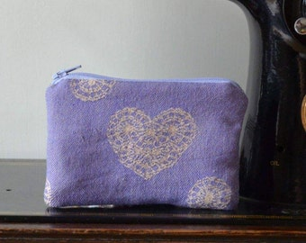 Plum Lace Coin Purse