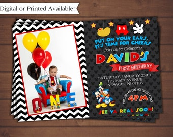 Mickey Mouse Invitation, Mickey Mouse Clubhouse Invitation