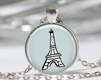 Paris, Eiffel Tower - Pendant Necklace or Keychain