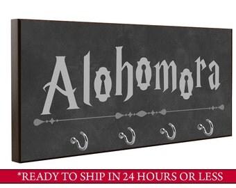 Charcoal | Harry Potter Alohomora Key Holder | Wall Key Holder | Key Rack | Decorative Key Hook | Home Decor