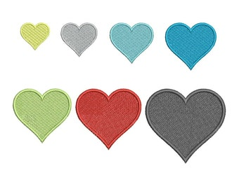 SALE!! Small Heart Machine Embroidery Design 9 Size - INSTANT DOWNLOAD