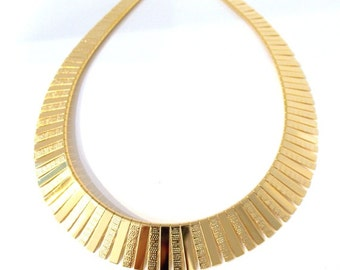Gold Vintage Style Cleopatra Necklace