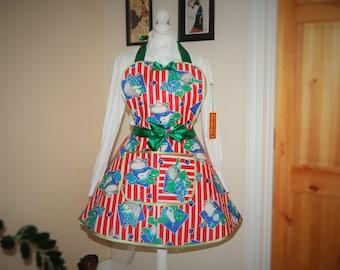 Flirty Aprons,Retro apron ,classic full apron, vintage inspired flirty apron,retro fifties 50s