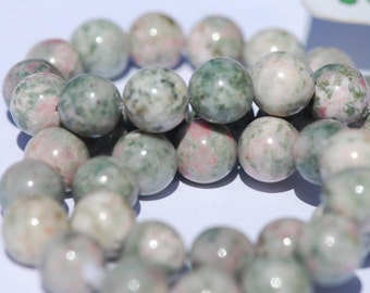 10mm Round Pink and Green Lapis Nevada Beads, 16 inch strand, BD0075