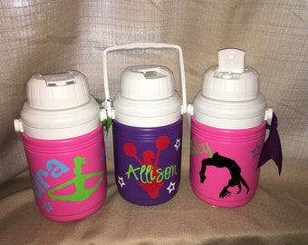 Personalized Sports Cheer Water Jug Cooler- 1.3 Quart