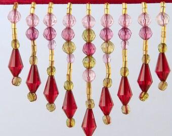 beaded fringing. antique beaded fringing. vintage beaded fringing. craft beads. adorn with bead fringing. lampshade beads. handbag beads.
