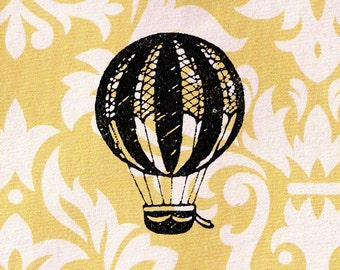 Hot Air Balloon Stamp: Wood Mounted Rubber Stamp