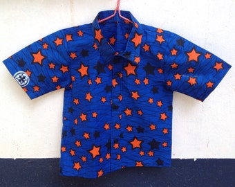 African Wax 'Sky full of stars' Boys Shirt