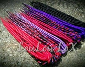 50 DE custom smooth synthetic dreads