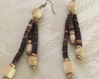 Wood earrings  cute