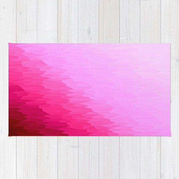 Items Similar To Area Rug, Pink Rug, Pink Area Rug, Pink