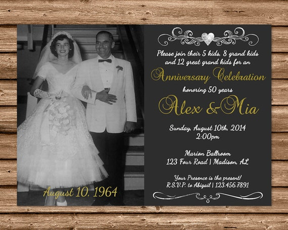 50th Wedding Anniversary Invitation Ideas: 50th Anniversary Invitation