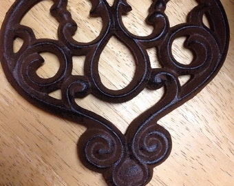 Cast Iron Key Heart 1930's reproduction key decor