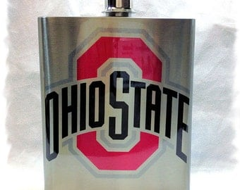 Ohio State University _ Buckeyes 7 ounce Flask _ Stainless Steel