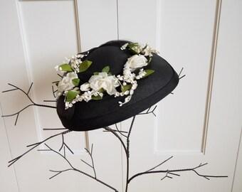 vintage floral sunday hat