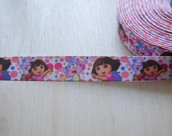 Dora The Explorer Grosgrain Ribbon by Yard, Grosgrain Ribbon, Dora and Boots.