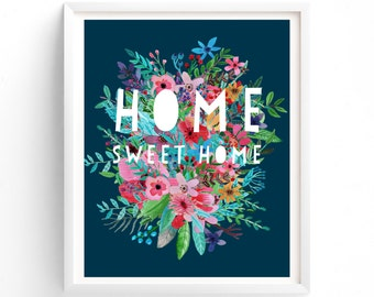 Printable Quotes, Wall Art Prints, Printable Art, Wall Art, Instant Download Print, Home Sweet Home