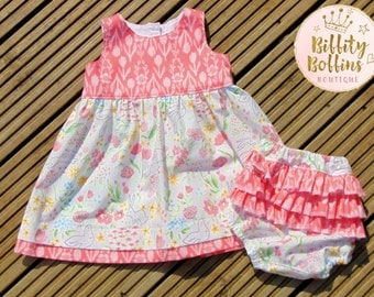 Baby Tea Dress and Frilly knickers