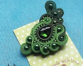 Spring Green soutache  brooch