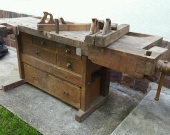 19rh century carpenter's workbench