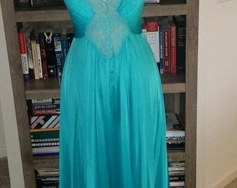 Beautiful light teal Olga nightgown