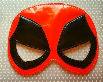 Marvel Deadpool super hero inspired mask ITH Project In the Hoop Embroidery Design Costume Cosplay Fancy dress Masquerade Photo booth, Prop.