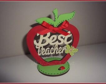 Teacher's Wooden Apple Keepsake