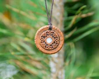 Aromatherapy Pendant Mandala essential oil perfume necklace Terracotta Clay fragrance diffuser #G51