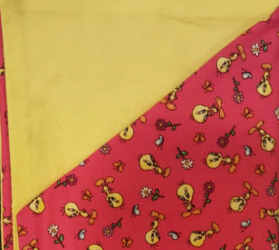 Tweety Bird Flannel Baby Blanket